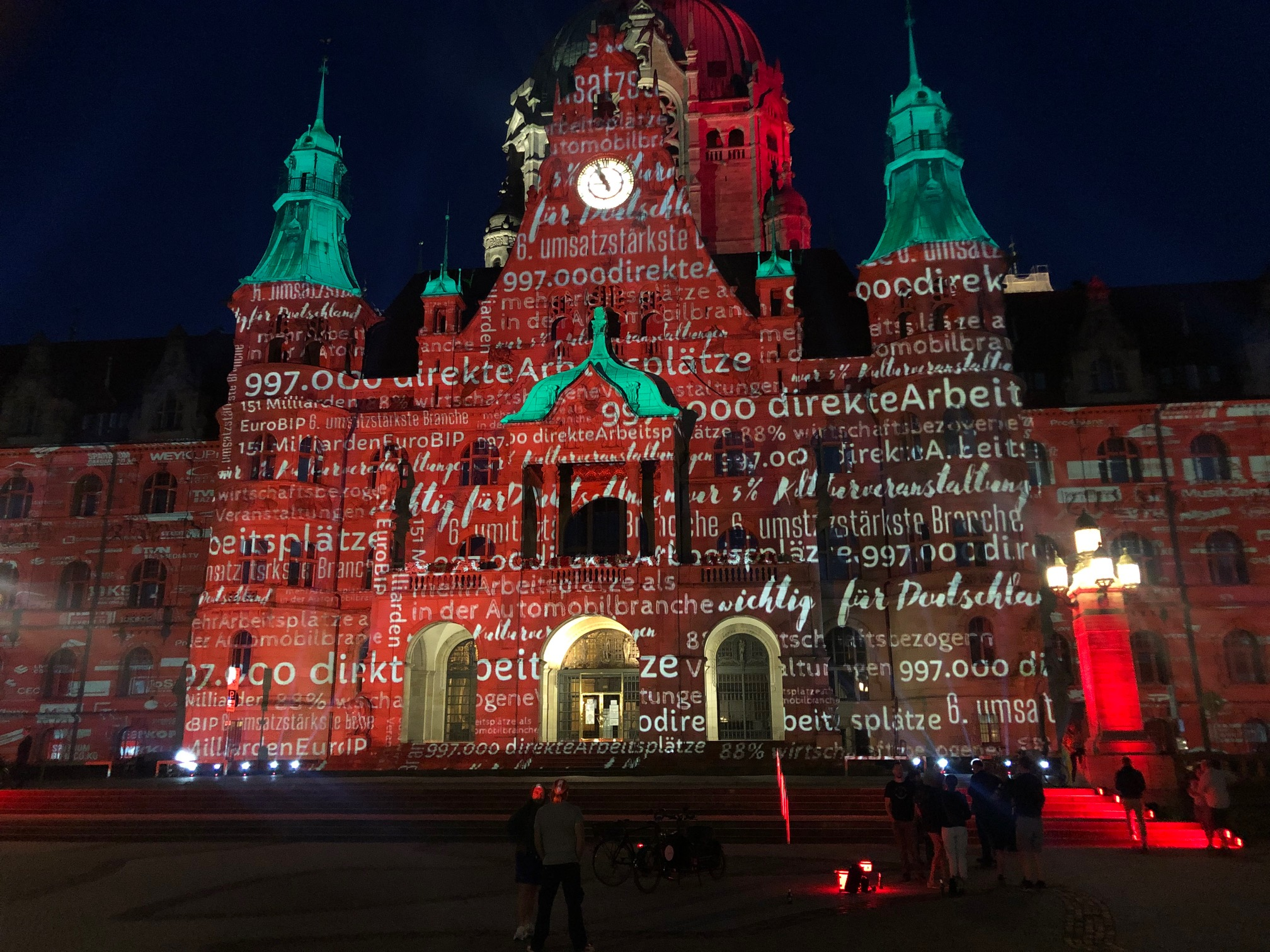 Rathaus Hannover - Night of Light